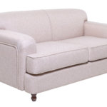 beige sofa with white background