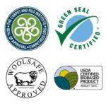 eco-friendly logo collage