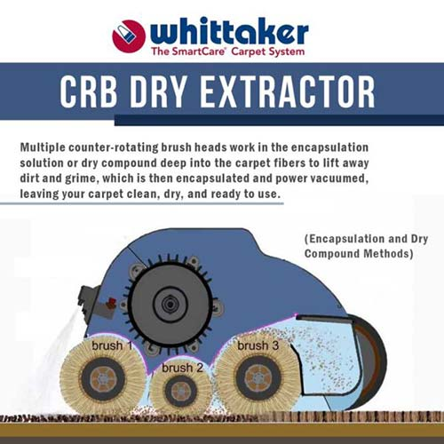 crb whittaker dry carpet cleaner machine